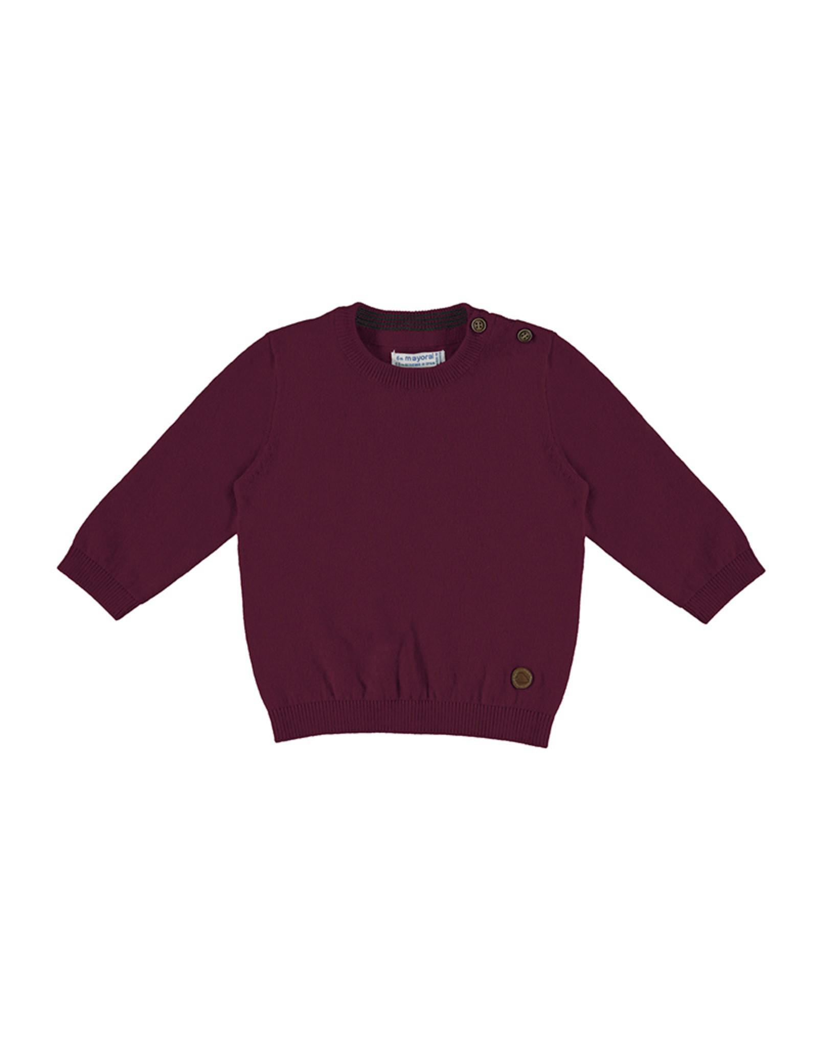 Mayoral Basic crew neck sweater Bordeaux