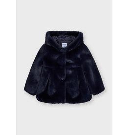 Mayoral Fur coat Navy