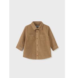 Mayoral L/s mirco-cord shirt walnut