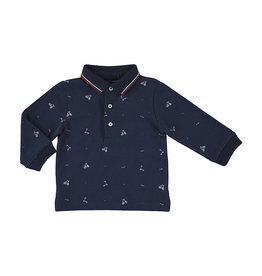 Mayoral Printed polo blue