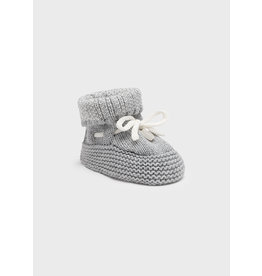 Mayoral Knit booties Heather gr