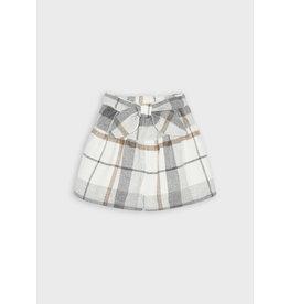 Mayoral Skirt/pant plaid Steel