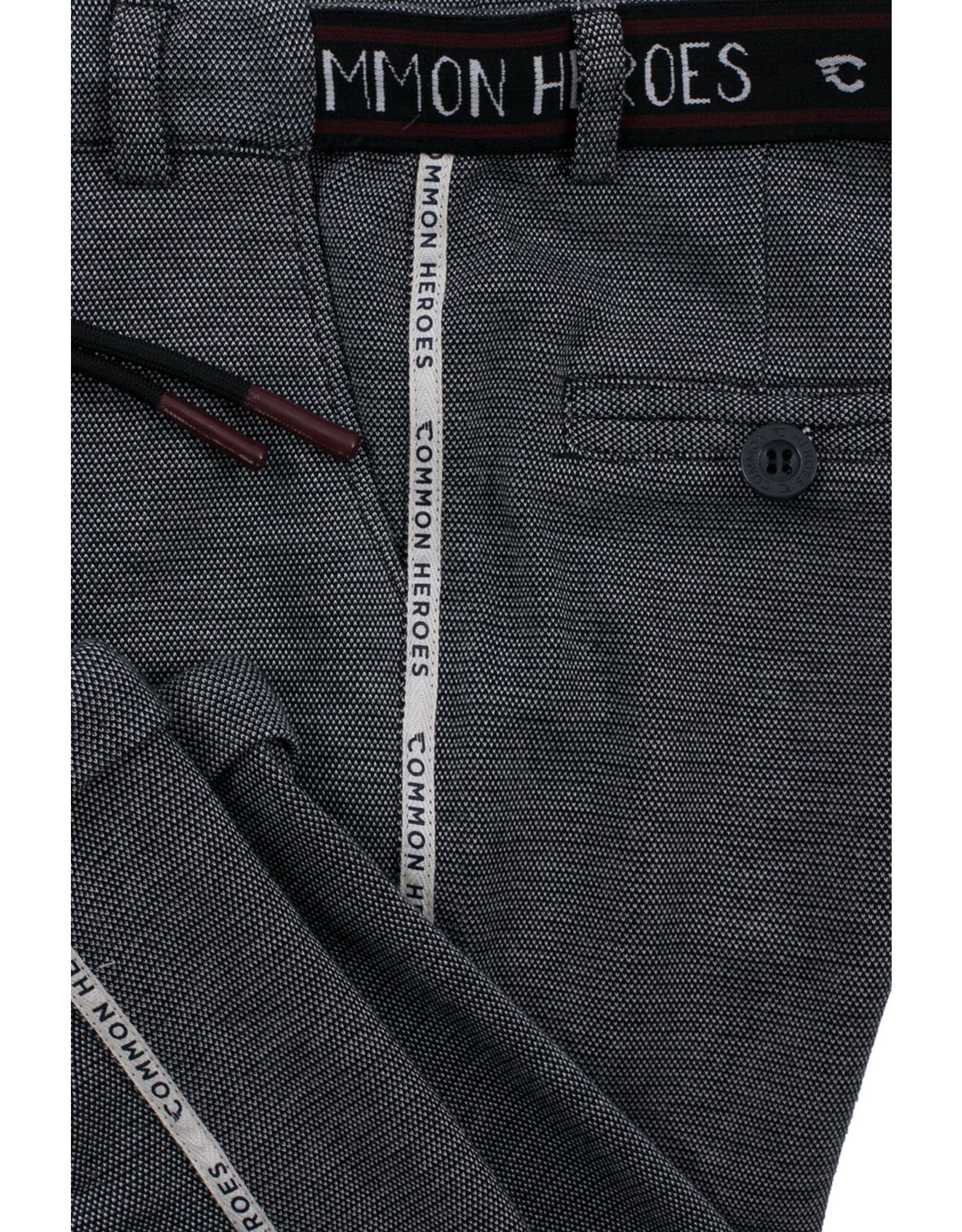 Common Heroes BAAS Fancy Chino sweat pants Black glitter