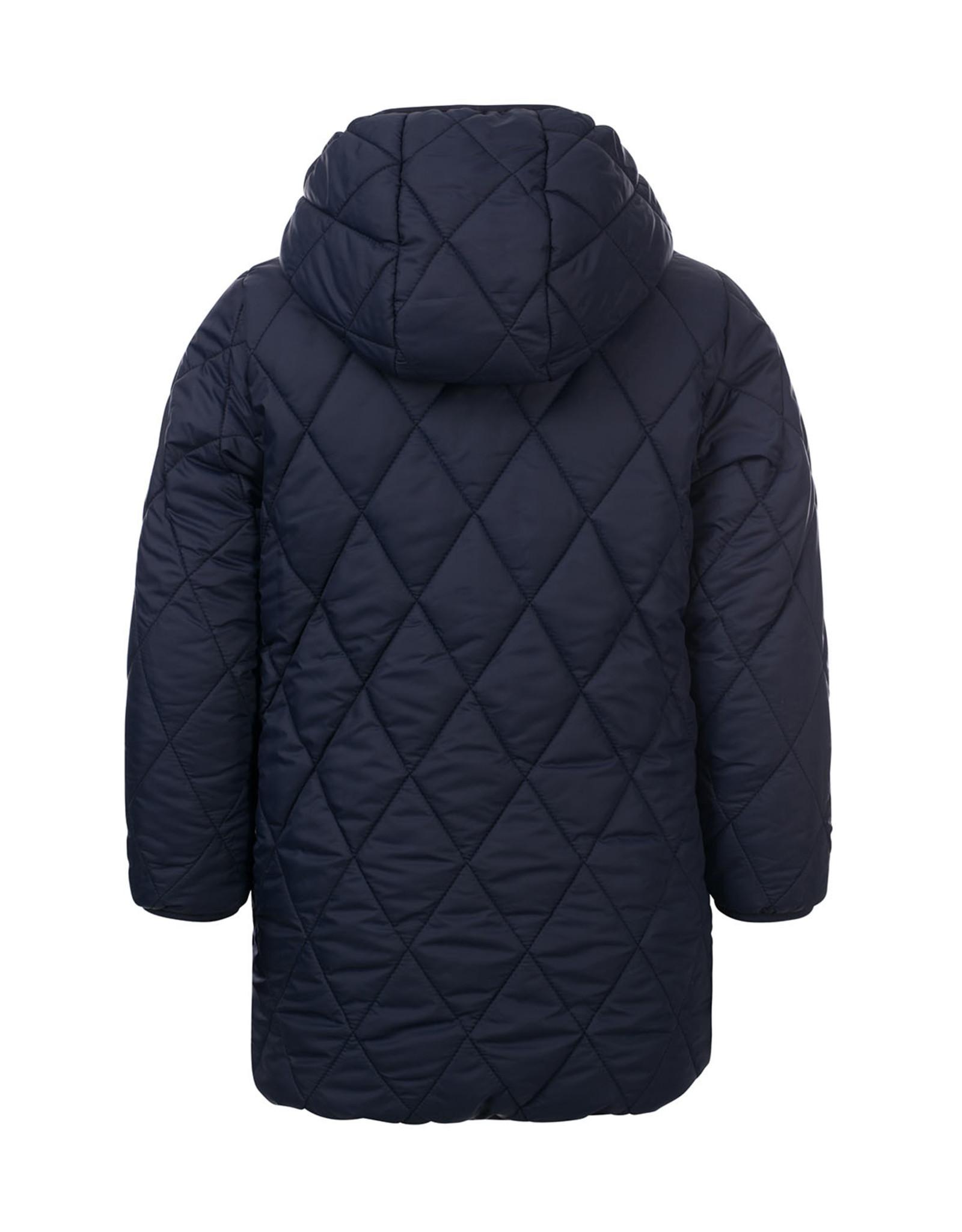 LOOXS Little Little jacket leopard reversible navy