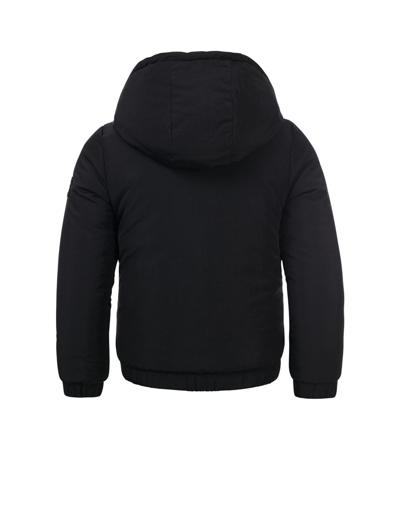 LOOXS 10sixteen fur bomber jacket black