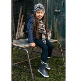 LOOXS Little Little hat hairy knit zebra Antra