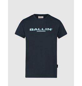 Ballin Amsterdam KIDS 3D EMBROIDERY LOGO T-SHIRT BLACK