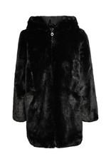Kids Only Konmalou Faux Fur Hood Coat Cp Otw Black