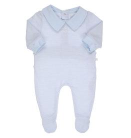 Gymp Jumpsuit - Daddy'S Champion -  Lichtblauw/Wit