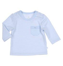 Gymp Longsleeve - Pocket - Peter -  Lichtblauw/Wit