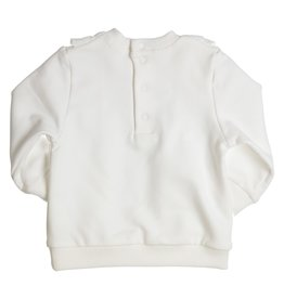 Gymp Sweater - Flounces And Lace -  Off-White