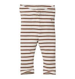 Levv Legging Beau Aop Brown Almond Stripe
