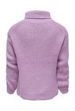 Kids Only Konriley L/S Rollneck Pullover Knt Crocus Petal