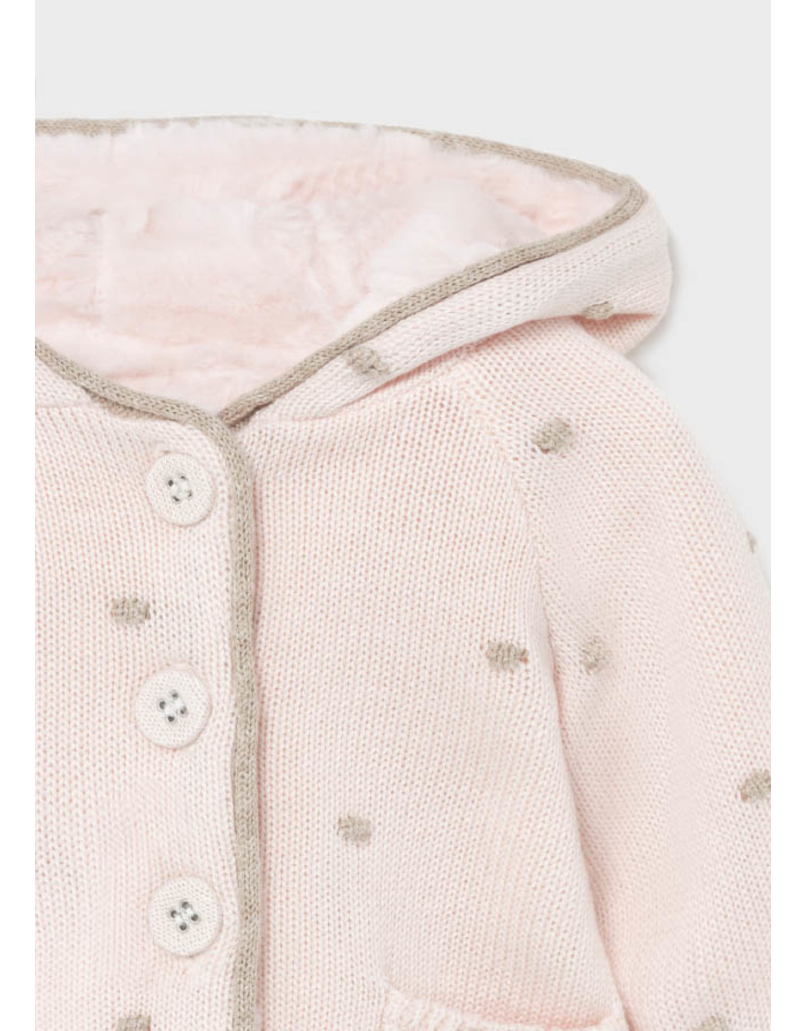 Mayoral Pompon knit cardigan Baby Rose