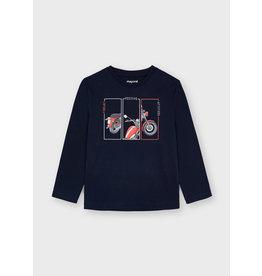 "Mayoral L/s ""positive"" t-shirt Navy"