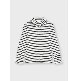 Mayoral Rib mockneck sweater Natur-blac