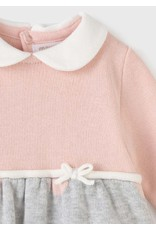 Mayoral Combined Knit dress Pearl