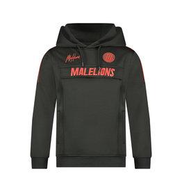 Malelions Junior Sport Warming Up Hoodie Black/Red
