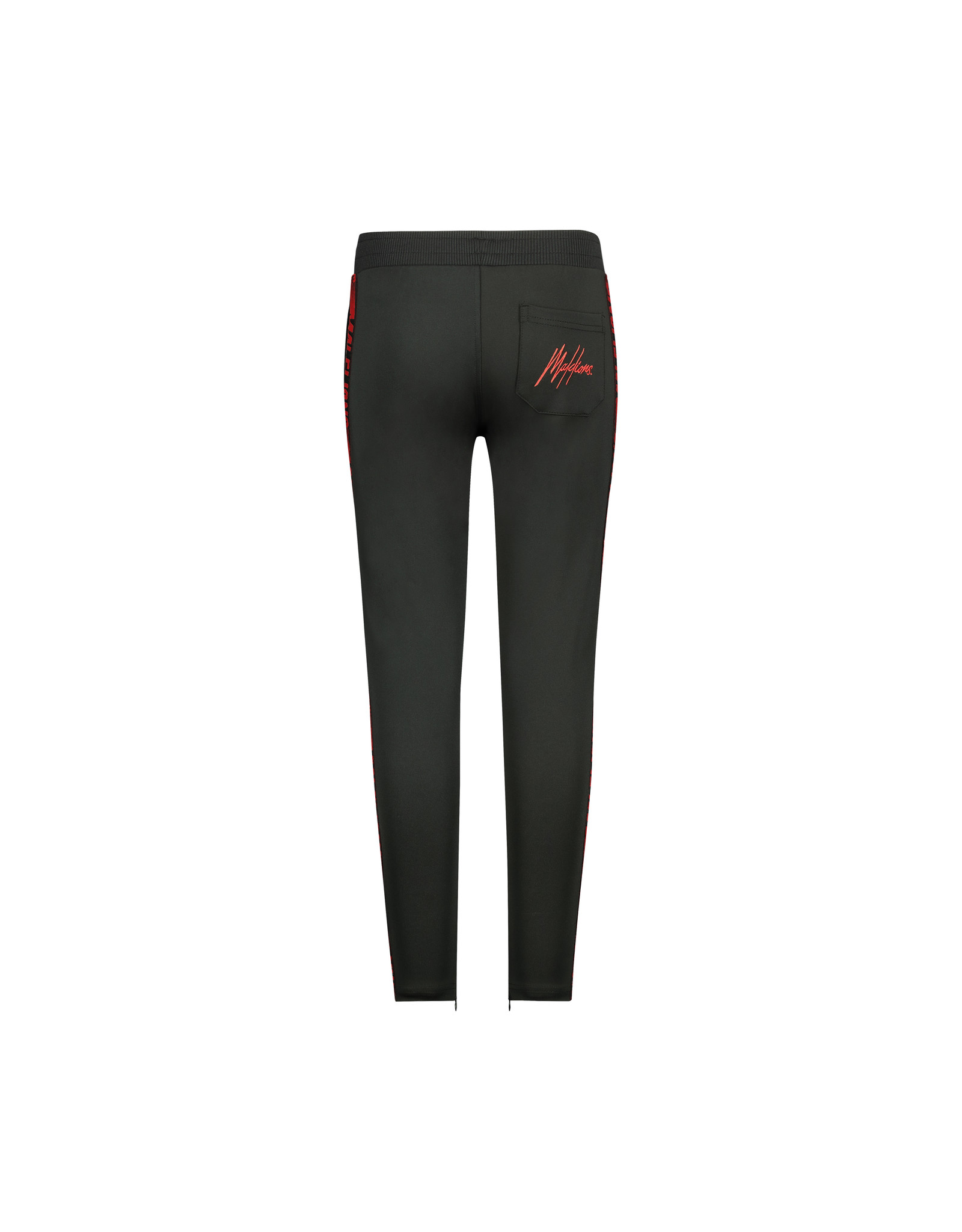 Malelions Junior Sport Warming Up Trackpants Black/Red