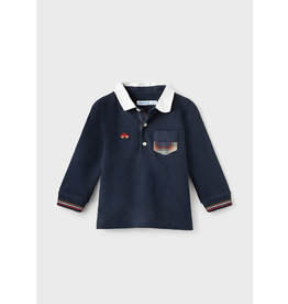 Mayoral L/s Polo Blue Blauw