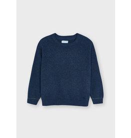 Mayoral Basic cotton sweater w/round Indigo
