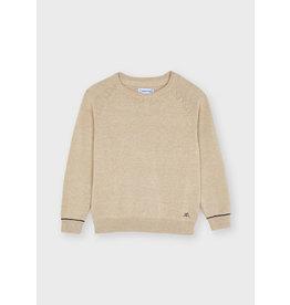Mayoral Basic cotton sweater w/round Toasted
