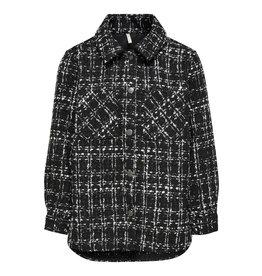 Kids Only Shirt Konetta L/S Shaket Wvn Black