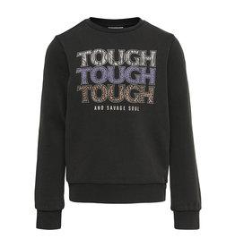 Kids Only Sweatshirt Konlucinda Life L/S Tough/Wild Swt Black Zwart