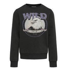Kids Only Sweatshirt Konlucinda Life L/S Tough/Wild Swt Black