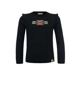 LOOXS 10sixteen Top with embroidery black