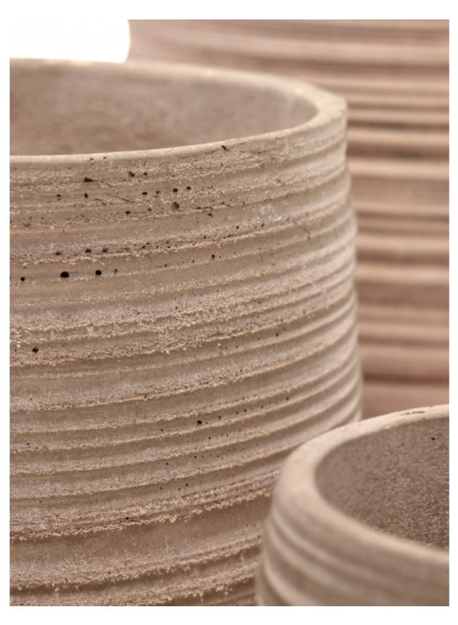 POT CURVED XL SAND WIRE