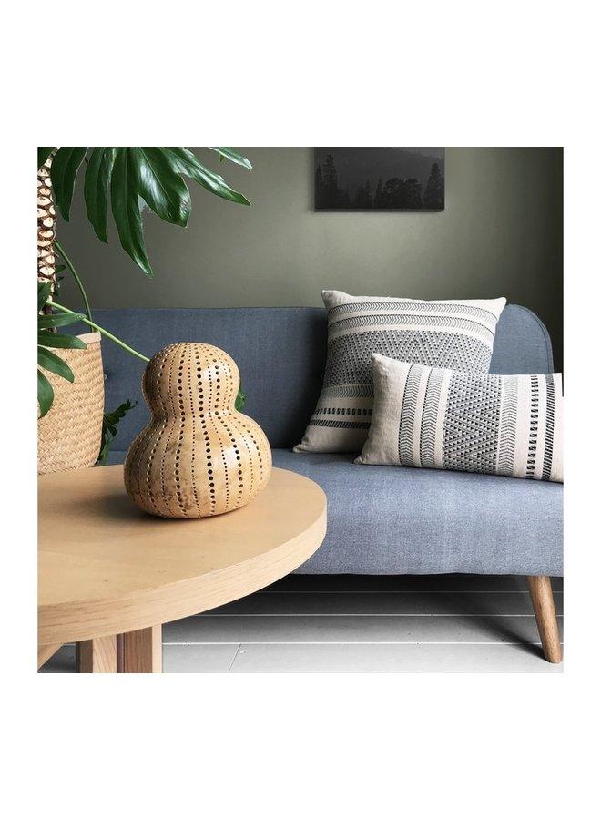 Native stripe cotton offwhite cushion