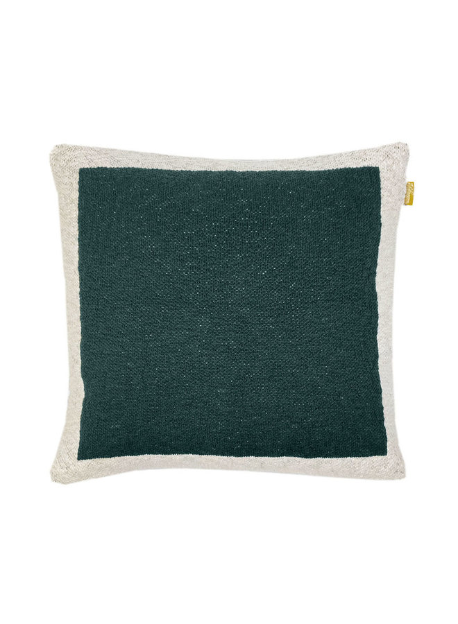 SOLID KNITTED POSTER CUSHION GREEN 50x50CM