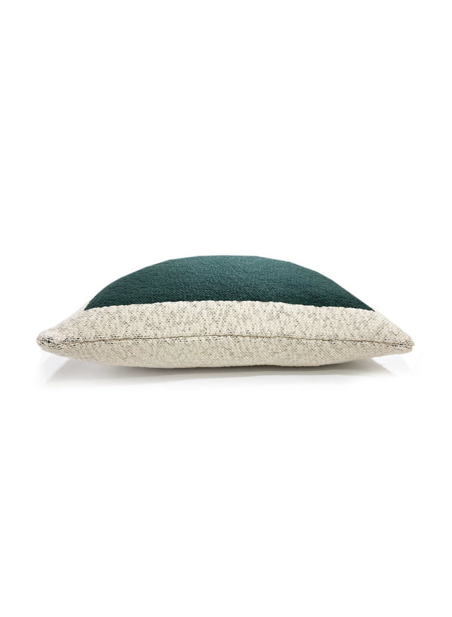 Solid knitted poster cushion green