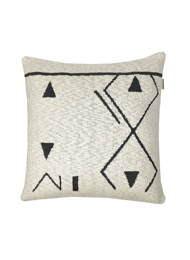 FANTASY LINE KNITTED CUSHION OFF-WHITE 50x50CM