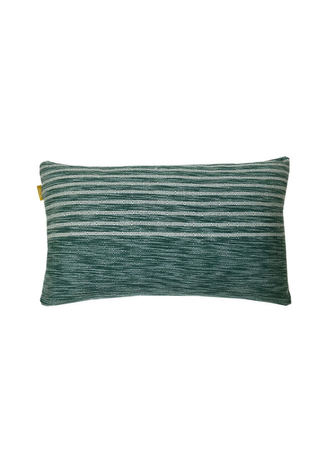 Tribal green cushion