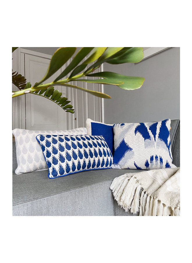 Botanic mini cushion blue