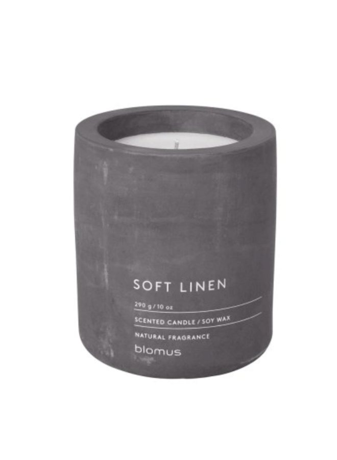 SCENTED CANDLE SOFT LINNEN Ø 9 CM