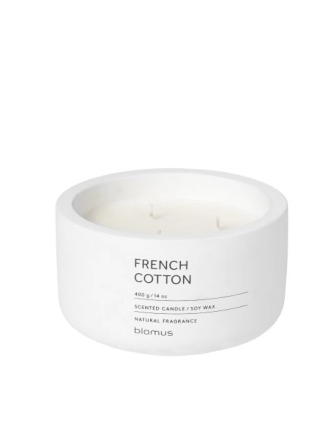 SCENTED CANDLE FRENCH COTTON Ø 13  CM
