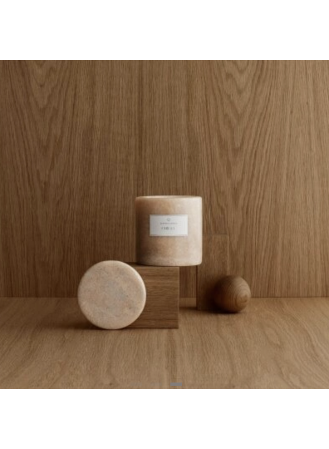 Scented Marble Candle - Indian Tan