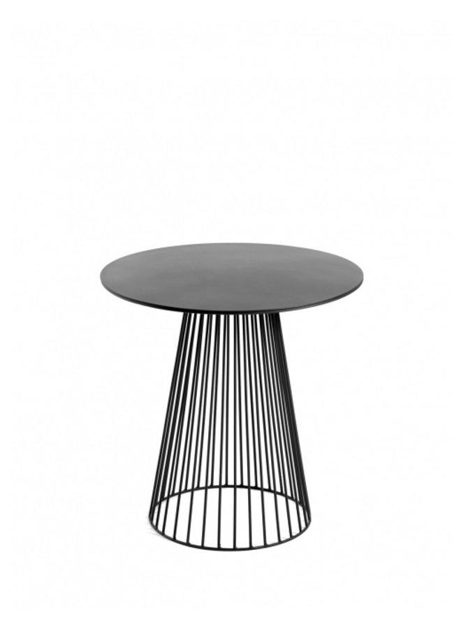 BISTROT TABLE GARBO40 ROUND DIA40 H40 BLACK