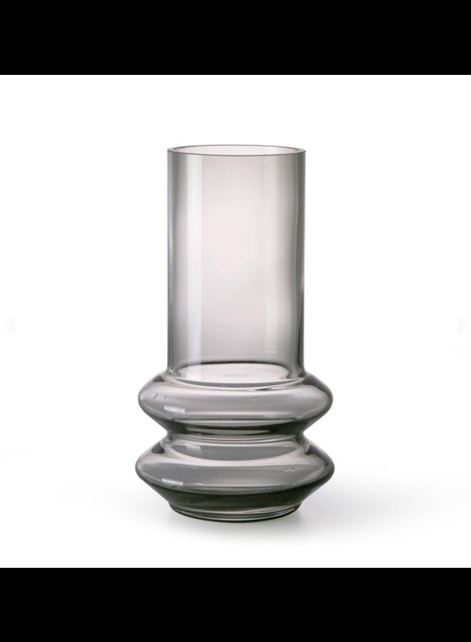 SMOKED GREY GLASS VASE M