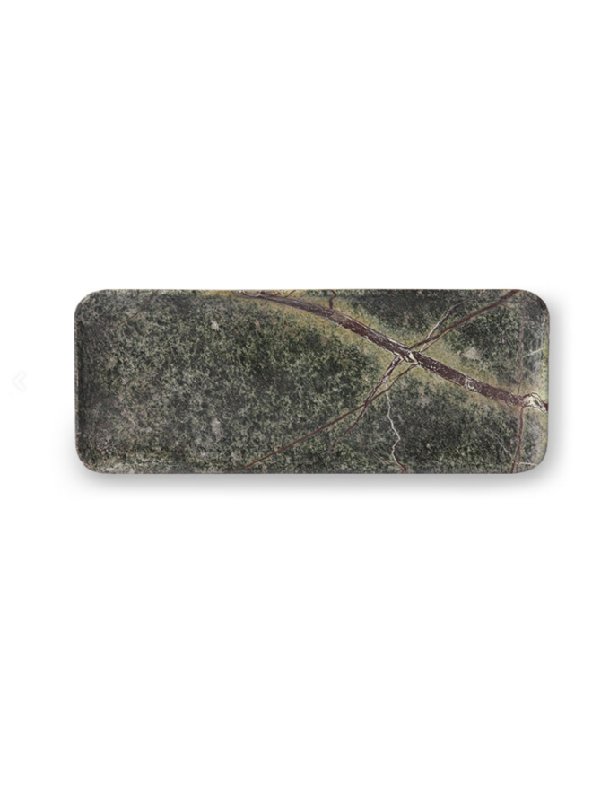 GREEN MARBLE TRAY 30x12CM
