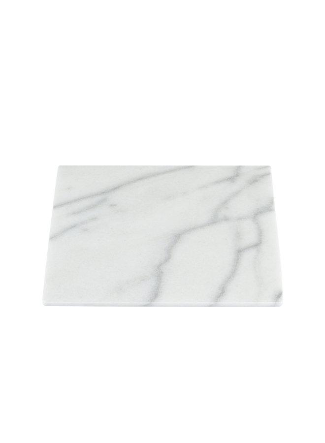 WHITE MARBLE SQUARE BOARD M