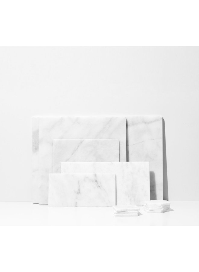 WHITE MARBLE RECTANG BOARD S