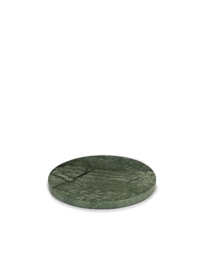 GREEN MARBLE ROUND PLATTER M Ø 20 CM