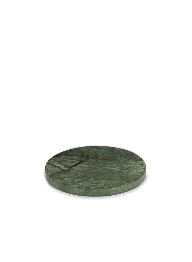 GREEN MARBLE ROUND PLATTER M