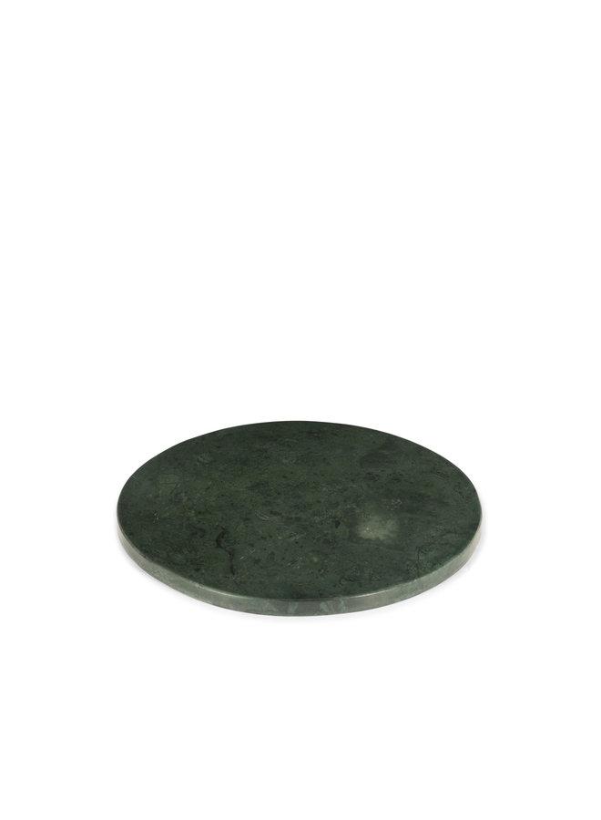 GREEN MARBLE ROUND PLATTER L Ø 30 CM