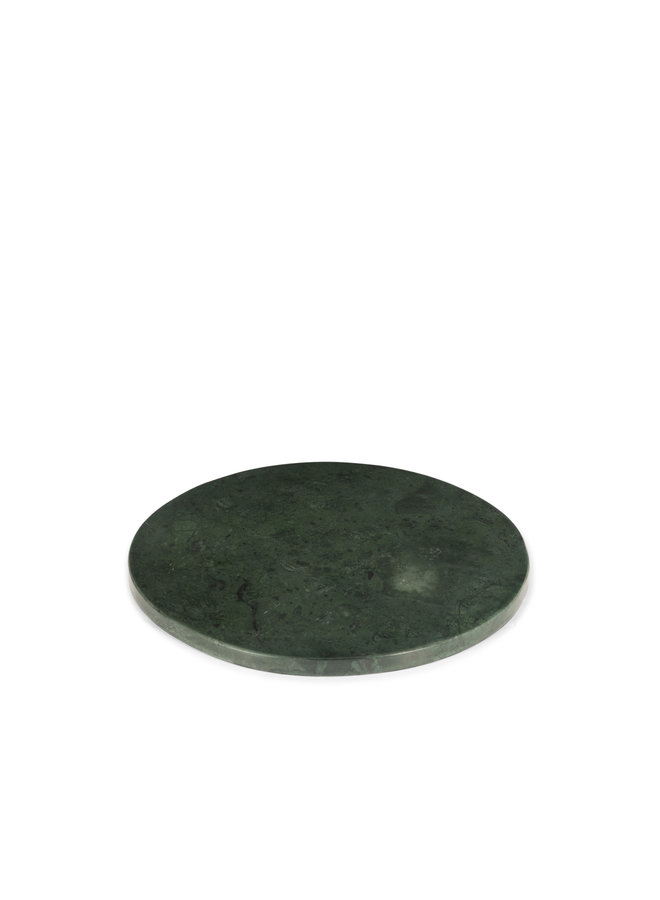 GREEN MARBLE ROUND PLATTER L