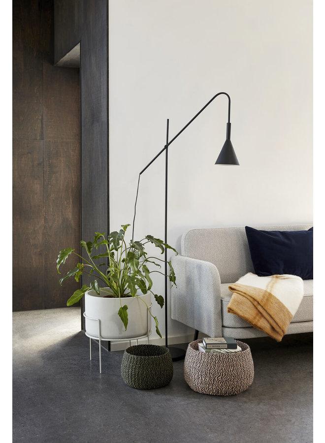 FLOOR LAMP, METAL, BLACK 66x167CM